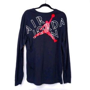 Air Jordan Men's Black Crewneck Shirt w Spellout
